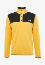 GLACIER SNAP-NECK  - Fleecová mikina - yellow/black