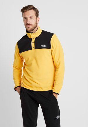 GLACIER SNAP-NECK  - Fleecová mikina - yellow/black