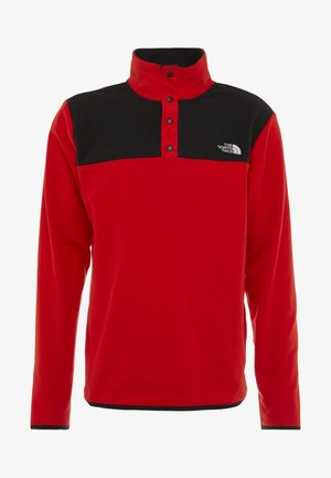 GLACIER SNAP-NECK  - Fleece trui - fiery red/black
