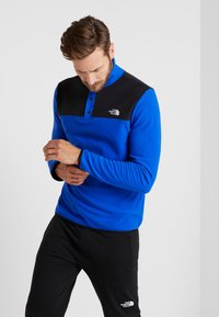 The North Face - GLACIER SNAP-NECK  - Fleece jumper - blue/black - 0
