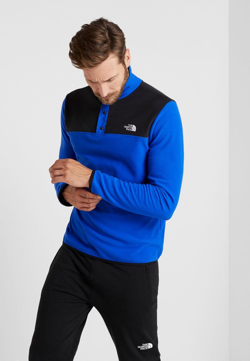 The North Face - GLACIER SNAP-NECK  - Fleece jumper - blue/black