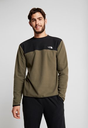 GLACIER CREW - Fleece jumper - new taupe green/black