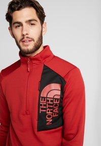 The North Face - MERAK ZIP - Fleece trui - cardinal red/black - 4