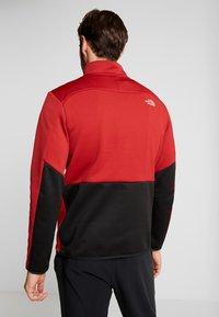 The North Face - MERAK ZIP - Fleece trui - cardinal red/black - 2