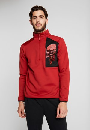MERAK ZIP - Fleece jumper - cardinal red/black