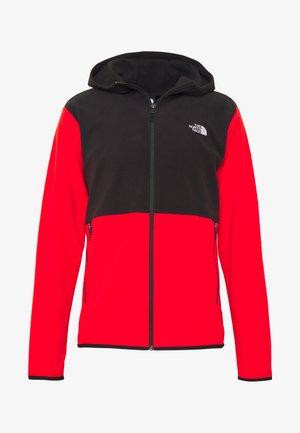 MENS GLACIER FULL ZIP HOODIE - Veste polaire - fiery red/black