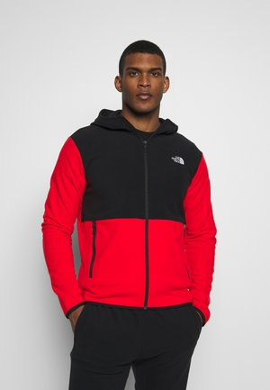 MENS GLACIER FULL ZIP HOODIE - Kurtka z polaru - fiery red/black