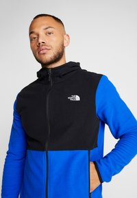 The North Face - MENS GLACIER FULL ZIP HOODIE - Fleecová bunda - clear lake blue/black - 4