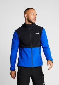 The North Face - MENS GLACIER FULL ZIP HOODIE - Fleecová bunda - clear lake blue/black - 0