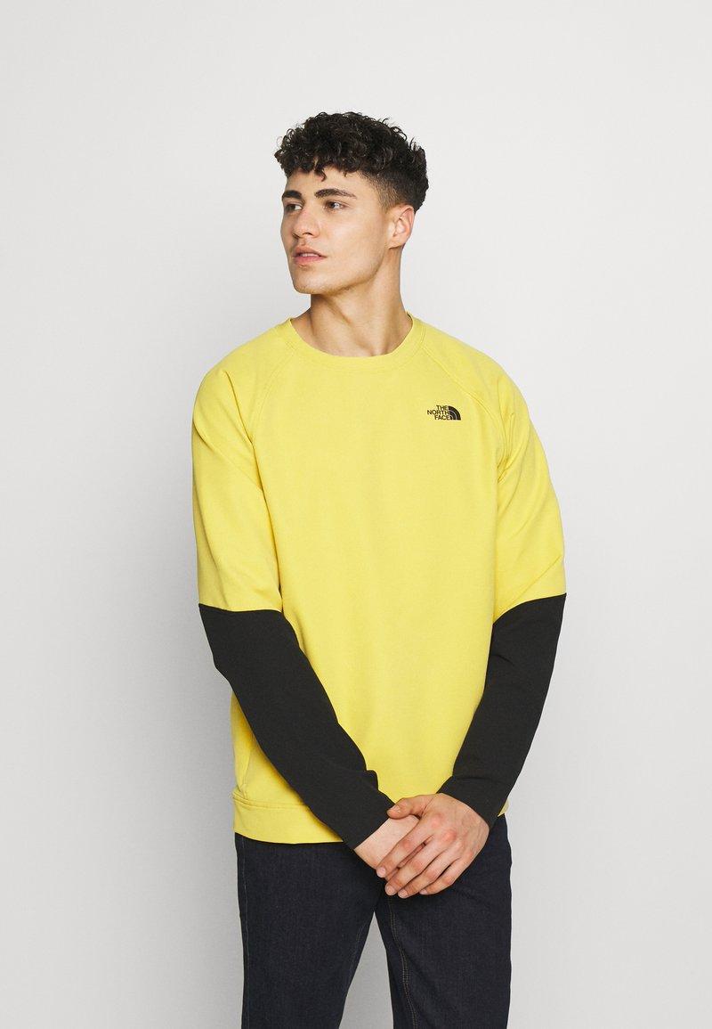 The North Face - MENS TEKNO RIDGE CREW - Fleecová mikina - bamboo yellow/black