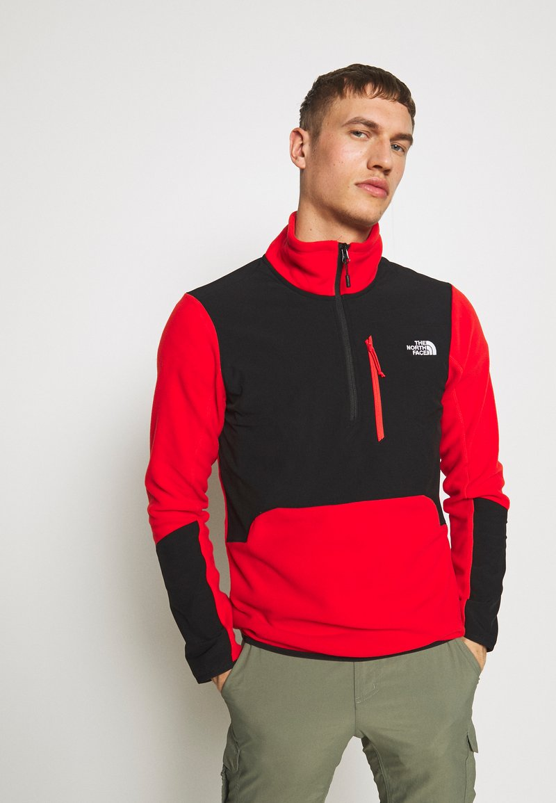 The North Face - MENS GLACIER PRO 1/4 ZIP - Fleecová mikina - fiery red/black