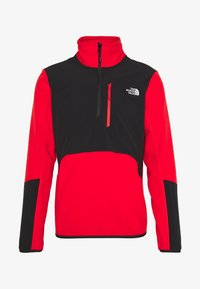 The North Face - MENS GLACIER PRO 1/4 ZIP - Fleecová mikina - fiery red/black - 4