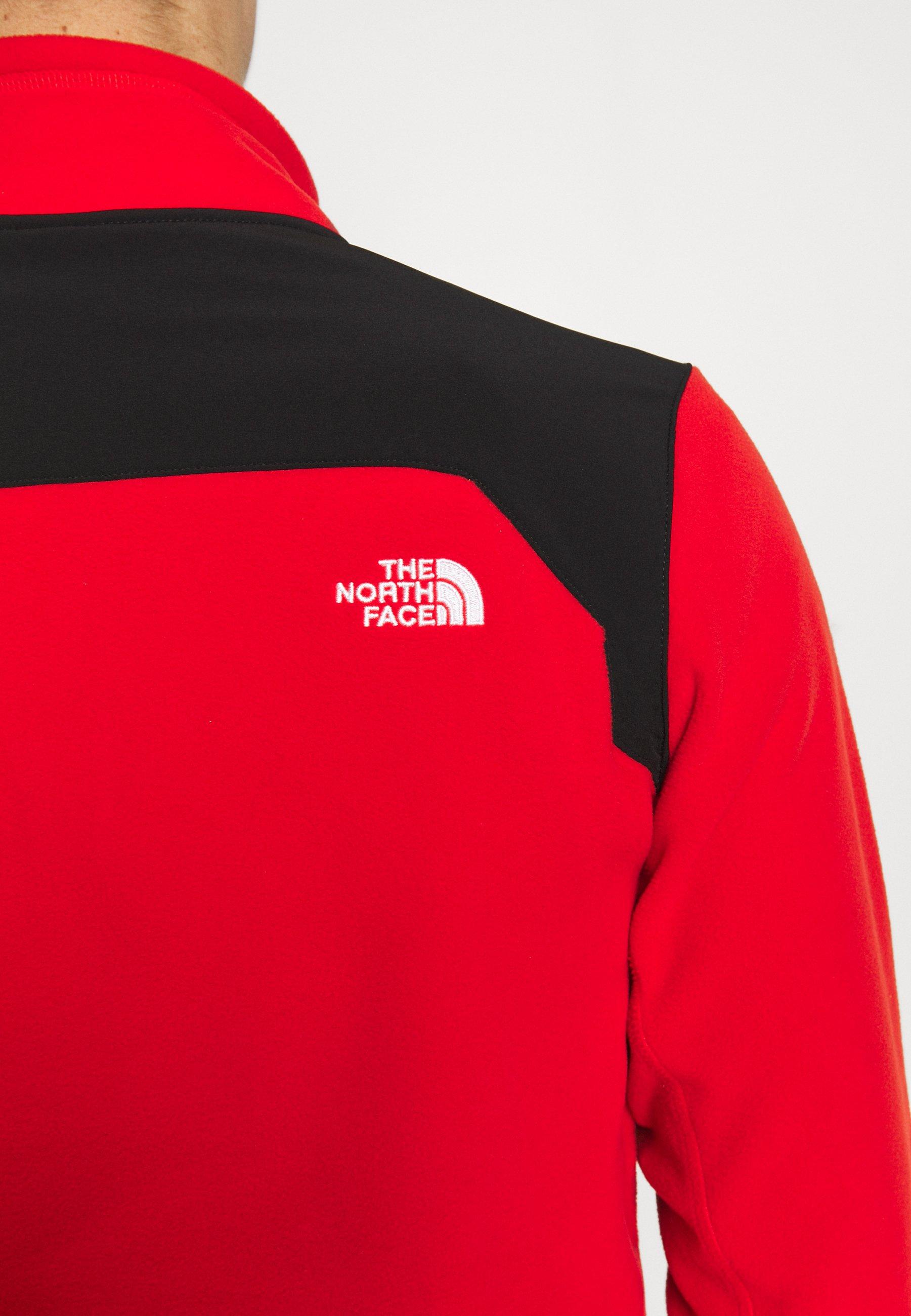 The North Face Mens Glacier Pro 1/4 Zip - Fleecetröja Fiery Red/black
