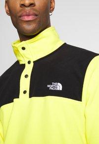 The North Face - MENS GLACIER SNAP NECK - Fleece jumper - lemon/black - 5
