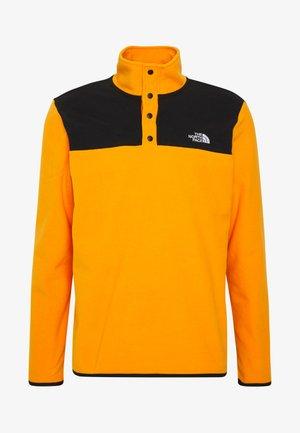 MENS GLACIER SNAP NECK - Felpa in pile - flame orange/black