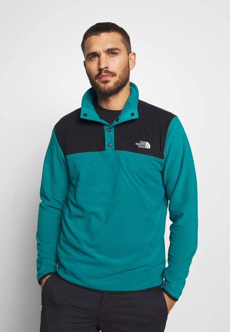 The North Face - MENS GLACIER SNAP NECK - Fleecová mikina - fanfare green/black