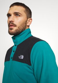 The North Face - MENS GLACIER SNAP NECK - Fleecová mikina - fanfare green/black - 3