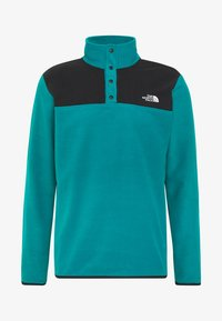The North Face - MENS GLACIER SNAP NECK - Fleecová mikina - fanfare green/black - 4