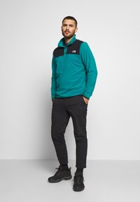 The North Face - MENS GLACIER SNAP NECK - Fleecová mikina - fanfare green/black - 1