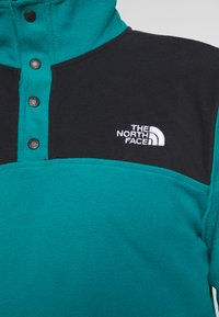 The North Face - MENS GLACIER SNAP NECK - Fleecová mikina - fanfare green/black - 5