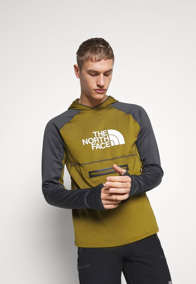 MEN'S VARUNA PULL ON HOODIE - Huppari - fir green/asphalt grey