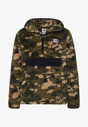MENS CAMPSHIRE - Fleece trui - green/black