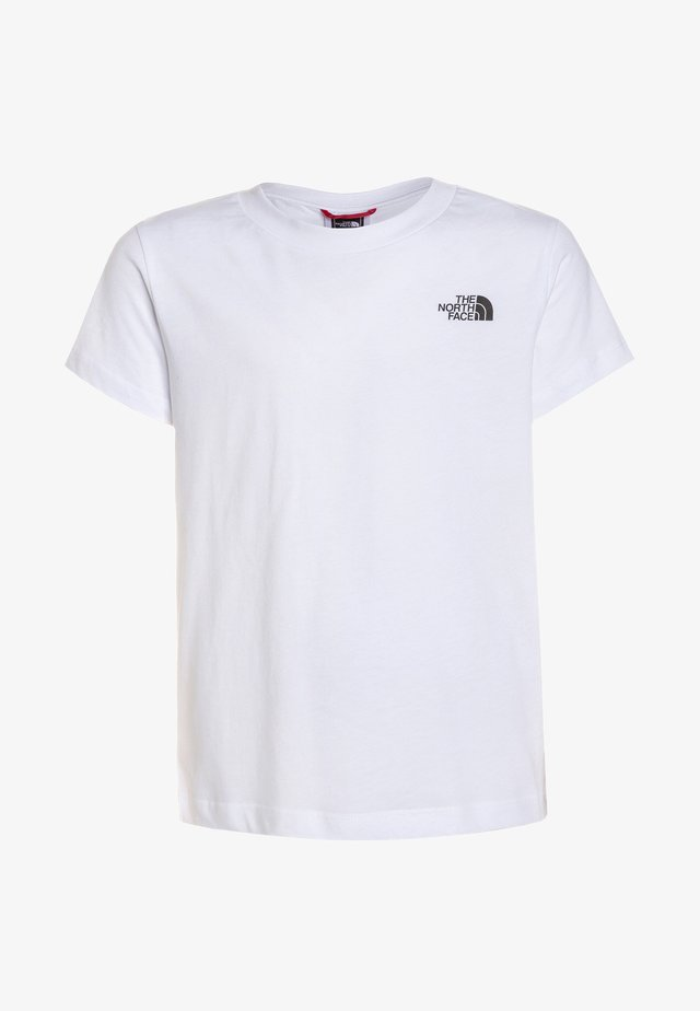 YOUTH SIMPLE DOME TEE - T-shirt z nadrukiem - white
