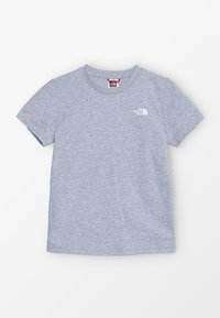 The North Face - YOUTH SIMPLE DOME TEE - T-shirt z nadrukiem - light grey heather/white - 0