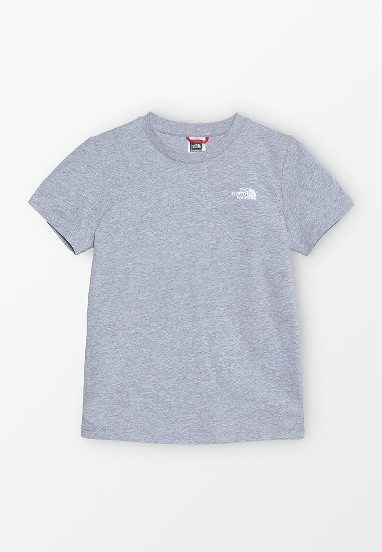The North Face - YOUTH SIMPLE DOME TEE - T-shirt z nadrukiem - light grey heather/white