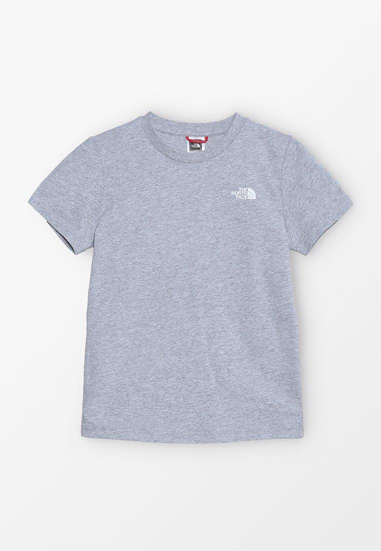 The North Face - SIMPLE DOME TEE - Camiseta estampada - light grey heather/white