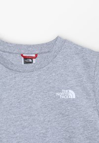 The North Face - YOUTH SIMPLE DOME TEE - T-shirt z nadrukiem - light grey heather/white - 3