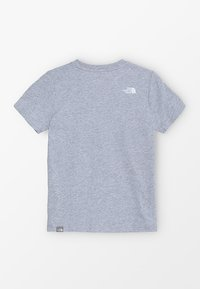 The North Face - YOUTH SIMPLE DOME TEE - T-shirt z nadrukiem - light grey heather/white - 1