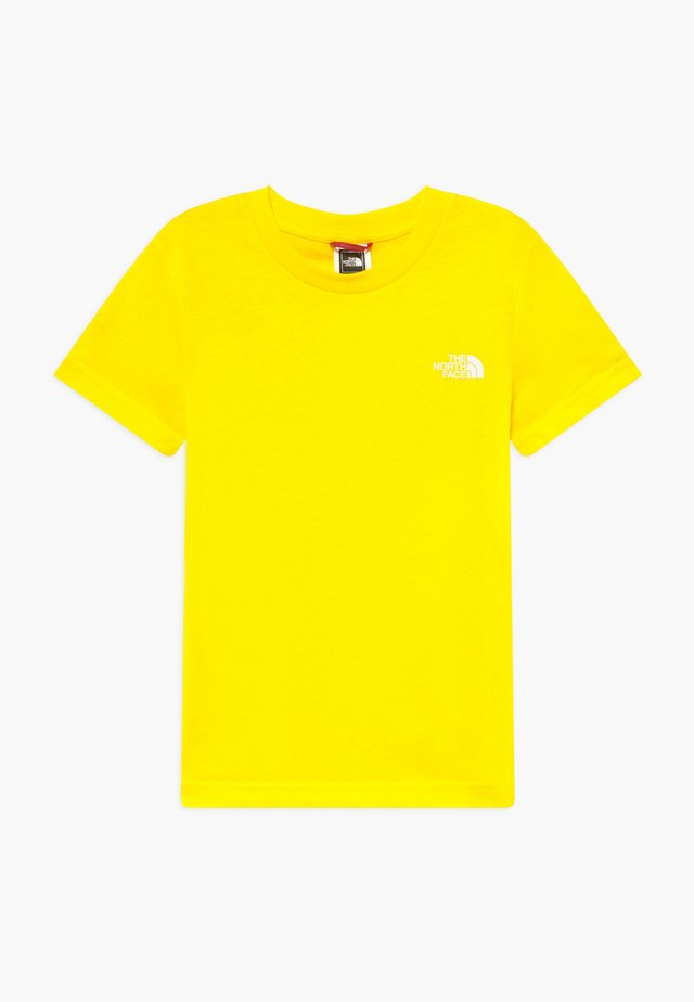 YOUTH SIMPLE DOME TEE - Triko s potiskem - lemon