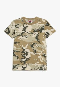 The North Face - YOUTH SIMPLE DOME TEE - T-shirt z nadrukiem - olive/green - 0