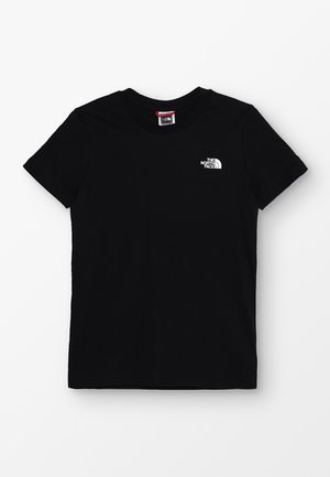 YOUTH SIMPLE DOME TEE - T-shirt z nadrukiem - black