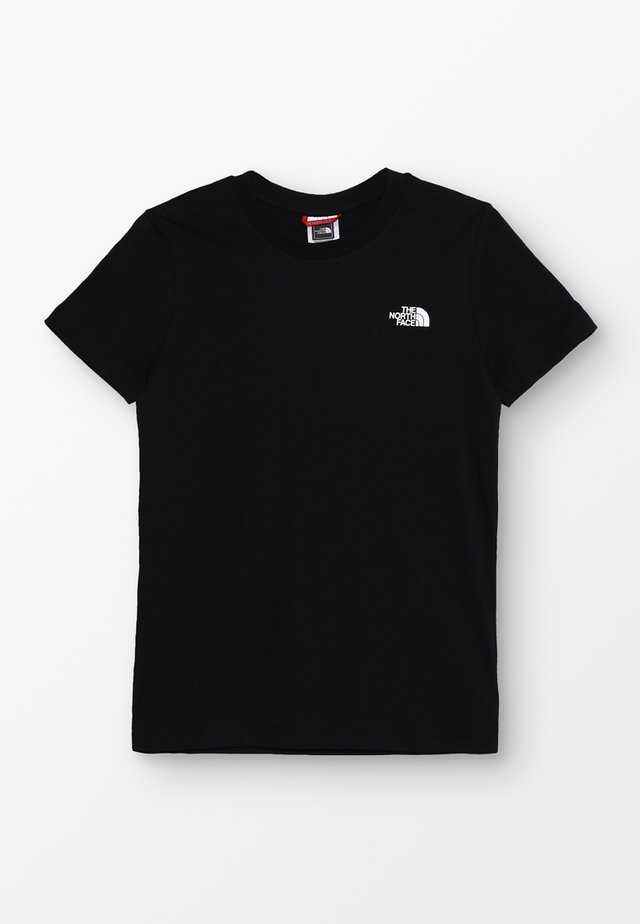 YOUTH SIMPLE DOME TEE - Printtipaita - black