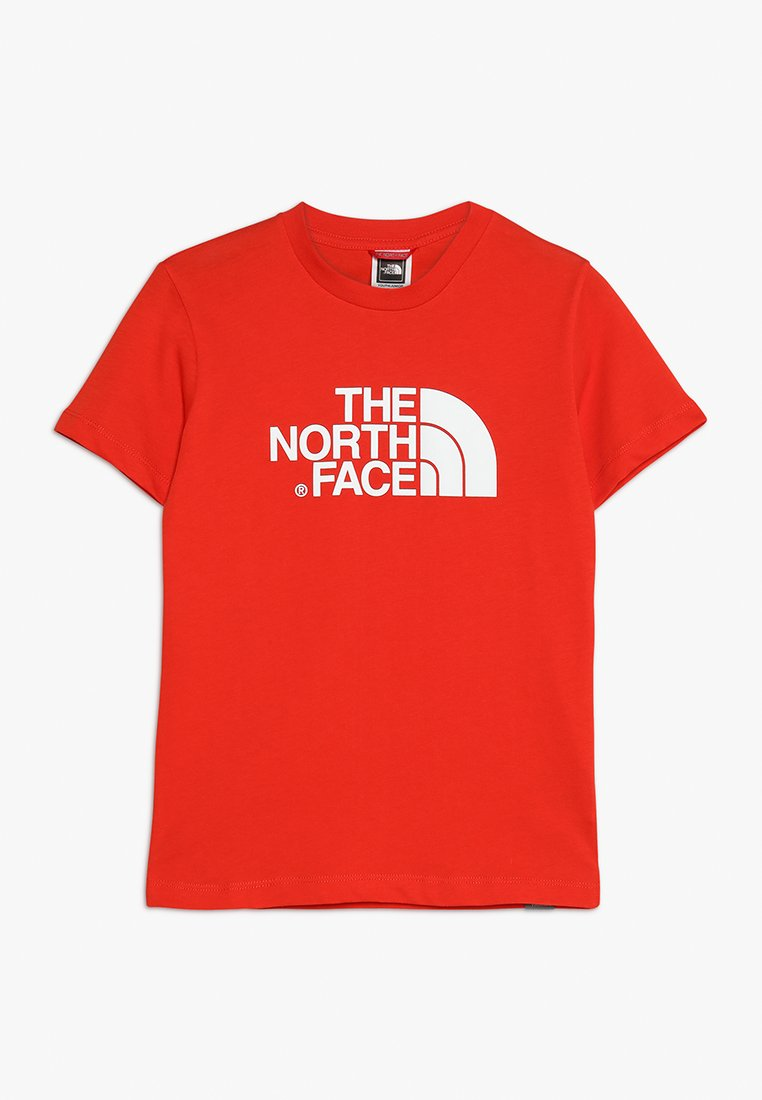 The North Face - EASY TEE - Triko spotiskem - fiery red/white
