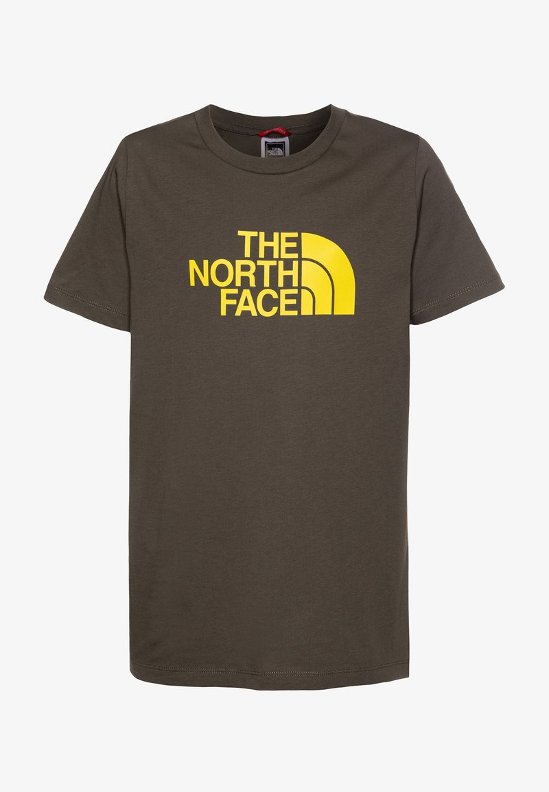The North Face - EASY TEE - T-shirt con stampa - new taupe green/lemon
