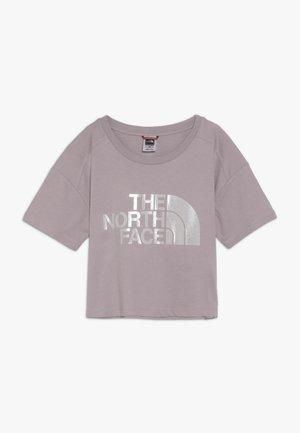 CROPPED - T-shirt imprimé - ashen purple