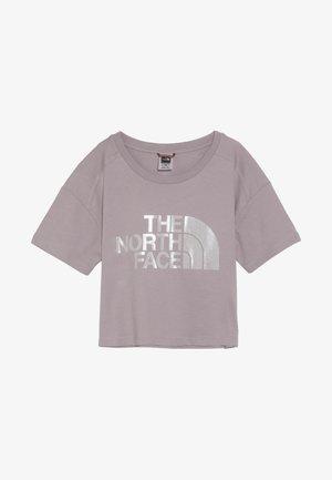 CROPPED - T-Shirt print - ashen purple