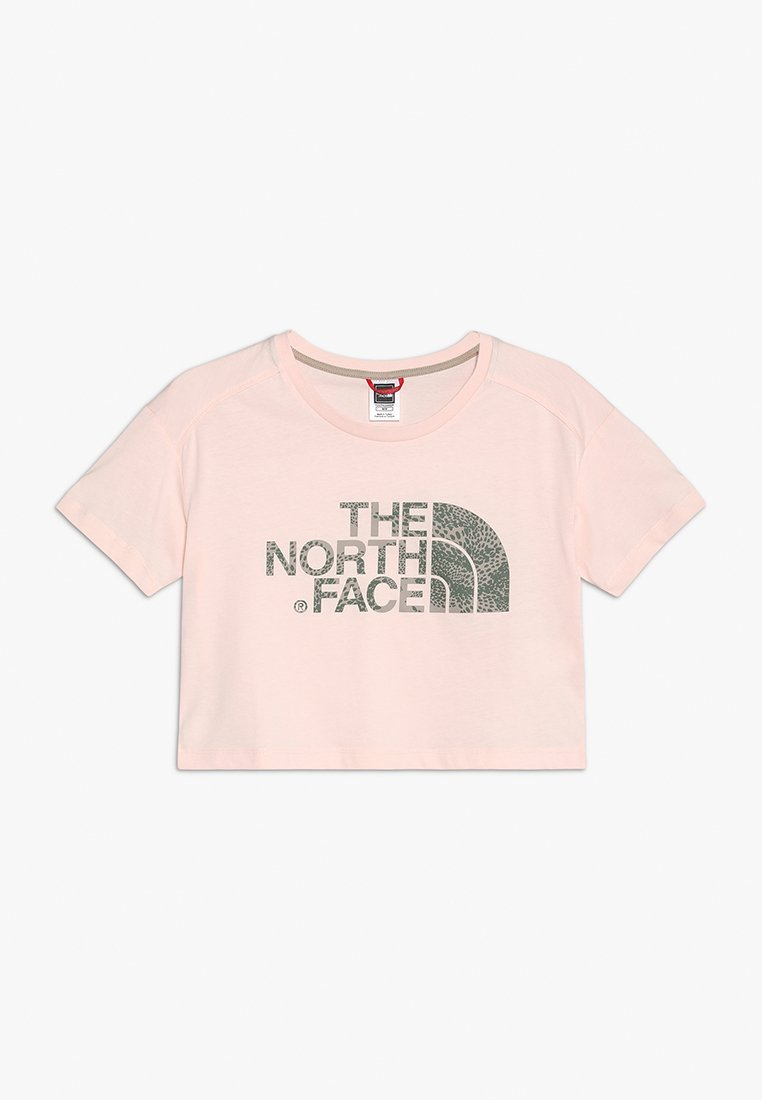 The North Face - CROPPED - Print T-shirt - pink salt