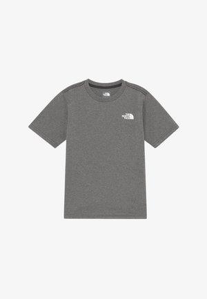 BOY'S REAXION 2.0 TEE - T-shirt z nadrukiem - grey