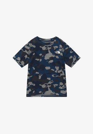 BOY'S REAXION 2.0 TEE - T-shirt print - blue-grey/grey