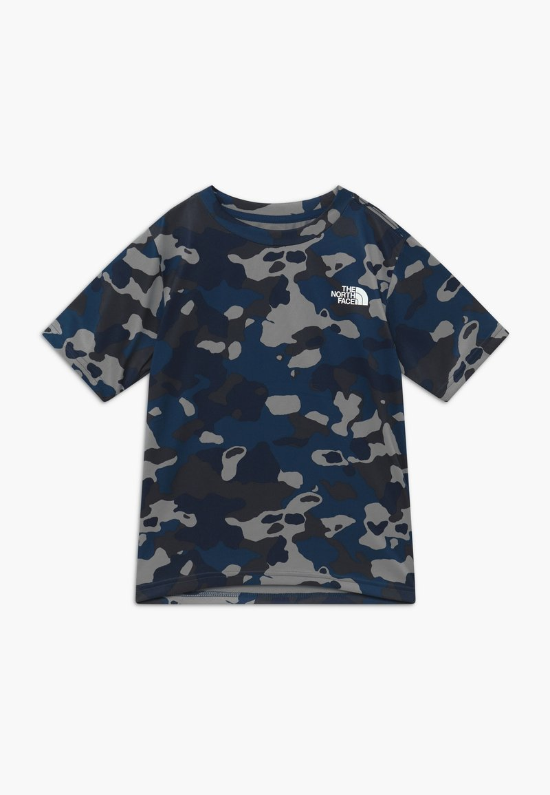 The North Face - BOY'S REAXION 2.0 TEE - T-shirt print - blue-grey/grey
