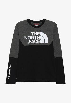 SOUTH PEAK TEE - Långärmad tröja - black/grey