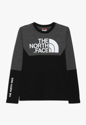 SOUTH PEAK TEE - Maglietta a manica lunga - black/grey