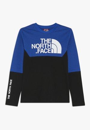 SOUTH PEAK TEE - Långärmad tröja - black/blue