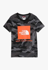 The North Face - BOX TEE - T-shirt med print - black - 0
