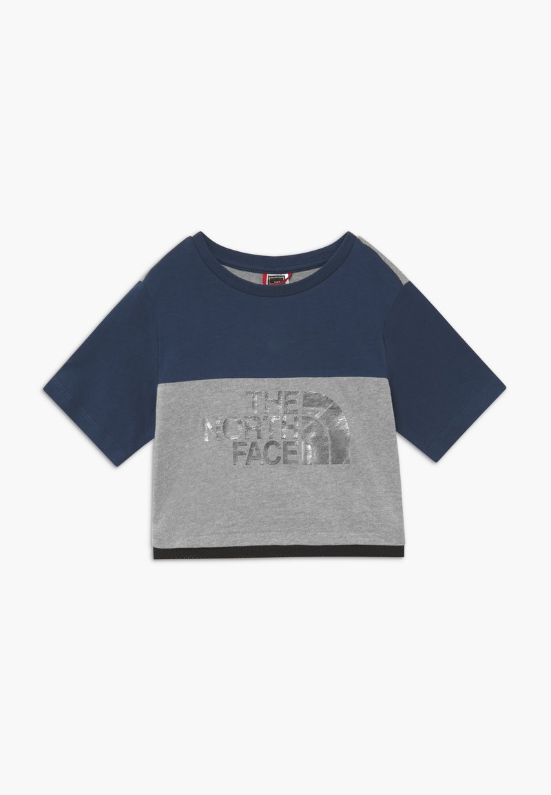 The North Face - GIRL'S CROPPED TEE - T-shirt z nadrukiem - blue wing teal