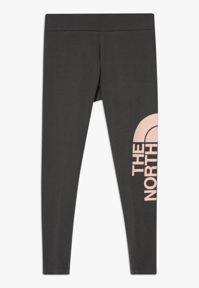 Tights - asphalt grey/impatients pink